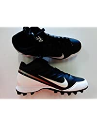 Nike Mens Land Shark 3/4 Football Cleat Black/White 9.5 M US