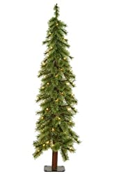 2' Pre-Lit Cashmere Alpine Artificial Christmas Tree With Clear Lights