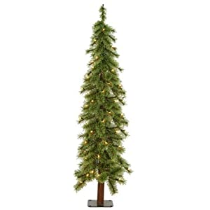 #!Cheap 2' Pre-Lit Cashmere Alpine Artificial Christmas Tree With Clear Lights