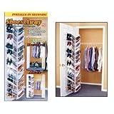 Shoes Away 30 Pair Shoe Hanging Closet Door Storage Space Saver