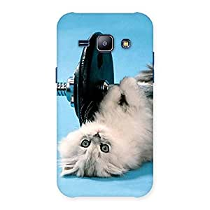 Special Fit Cat Multicolor Back Case Cover for Galaxy J1