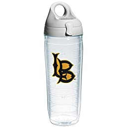 Tervis 1073529 Ca State University Long Beach Emblem Individual Water Bottle with Gray lid, 24 oz, Clear