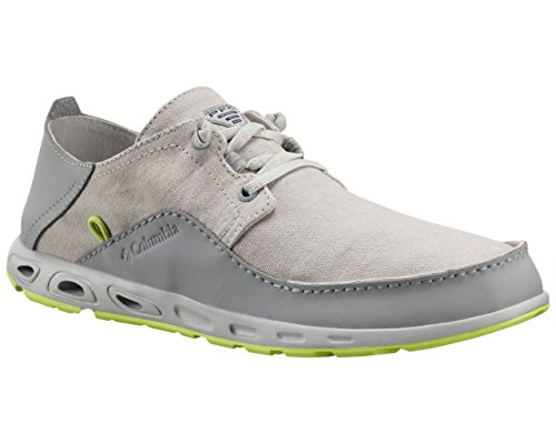 Columbia Men's Bahama Vent Relaxed PFG Casual Boat Shoes, Grey Leather, 9.5 M (Columbia Bahama Vent Fishing Shoe compare prices)