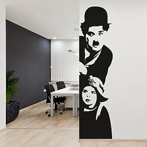 Adesivo murale charlie chaplin il monello wall sticker for Stickers per muri
