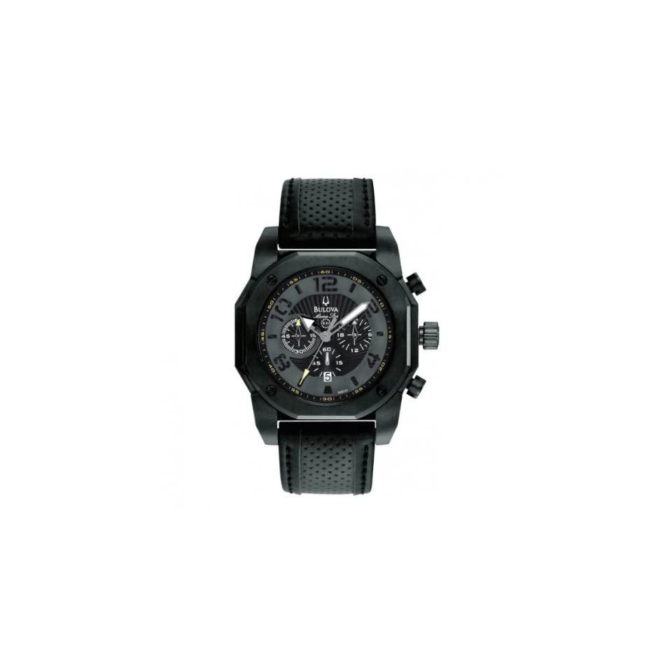 Bulova 98B151 Mens Marine Star Chronograph Black Watch Watches