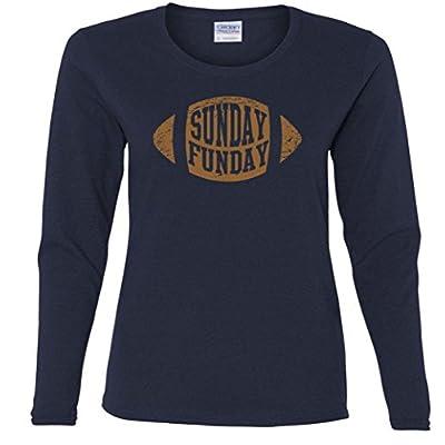 Football Sunday Funday Logo Missy Fit Long Sleeve T-Shirt