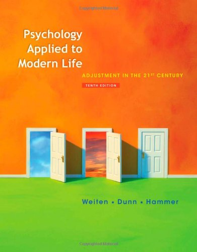 Psychology Applied to Modern Life: Adjustment in the 21st...