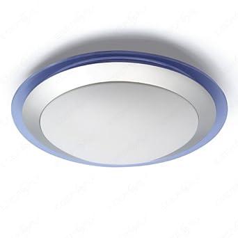 led deckenlampe deckenleuchte inklusive led leuchtmittel rund mit blauem rahmen 12w db991. Black Bedroom Furniture Sets. Home Design Ideas