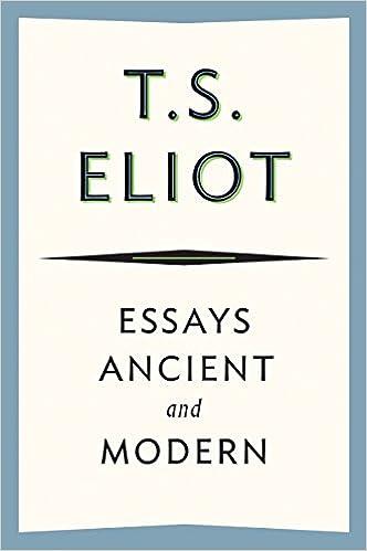 eliot elizabethan essays