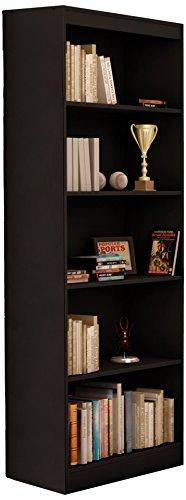 South Shore Jazz 5-Tier Open Bookcase, 72-Inch, Black