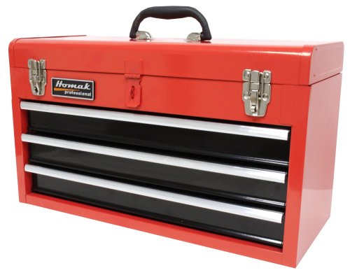Images for HOMAK RD01032101 3-Drawer Tool Box/Chest Red