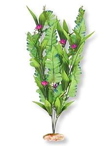 Vibran-Sea Flowering Sword Leaf Silk-Style Aquarium Plant, Extra-Large 18-19 tall, Green