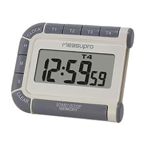 MeasuPro CCT400 Digital-Timer eieruhren, Uhr und Stoppuhr mit vier Kanälen