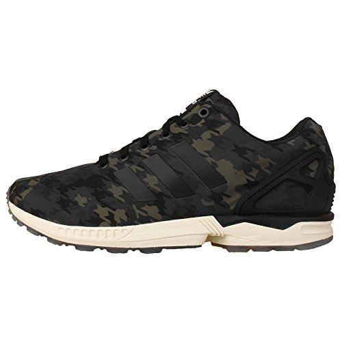 Adidas Men'S Zx Flux , Ngtcar/Black/White Green Camo, 10.5 M Us