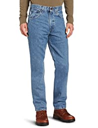Carhartt Men's Traditional Fit Five Pocket Tapered Leg B18,Stonewash,30 x 30