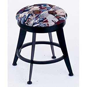 Laser 18 swivel vanity stool metal finish bronze seat type upholstery - Swivel vanity stool with back ...