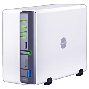 Synology DiskStation 2-Bay Network Attached Storage DS211J (White)