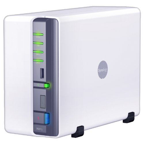 Synology DiskStation 2-Bay (Diskless) Network Attached Storage DS211J (White)