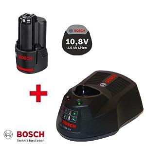 2er POWERPACK 1x Bosch Akku 10,8V 1,3AH Li-Ion 2607336014 + 1x Ladegerät AL1130CV 2607225134