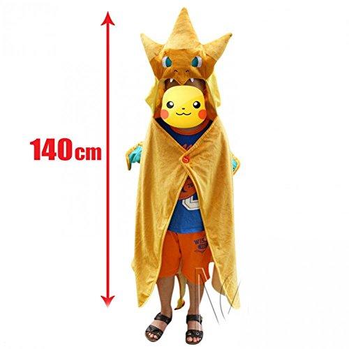 [Unisex Center Mega Tokyo Pikazard Pikachu Charizard Animal Cosplay Costume For Gift] (Charizard Costume For Pikachu)