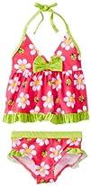 Pink Platinum Baby-Girls Infant Big Floral Tankini