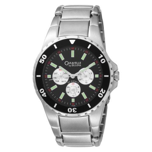 Caravelle by Bulova Men's 45C22 Bracelet Black Dial Watch