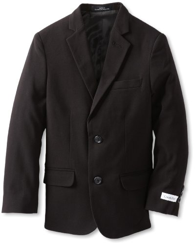 Calvin Klein Boys 8-20 Bi-Stretch Blazer, Black, 16