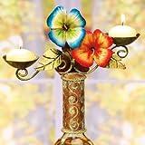 Decobreeze Home Holiday Decoration Capiz Shell Candelabra Bottle Topper-Tropical Flowers
