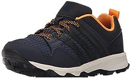 adidas Performance Kanadia 7 TR K Trail Running Shoe ,Night Navy/Black/Equipment Orange,3 M US Little Kid