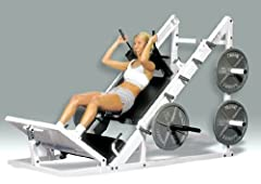 HLS-160 Features: -Leading design using six urethane rollers incorporating sealed bearings. -Easily converts from hack squat to leg press or power thrust. -Features a dual heavy triangular frame, producing the most stable and strongest machin...
