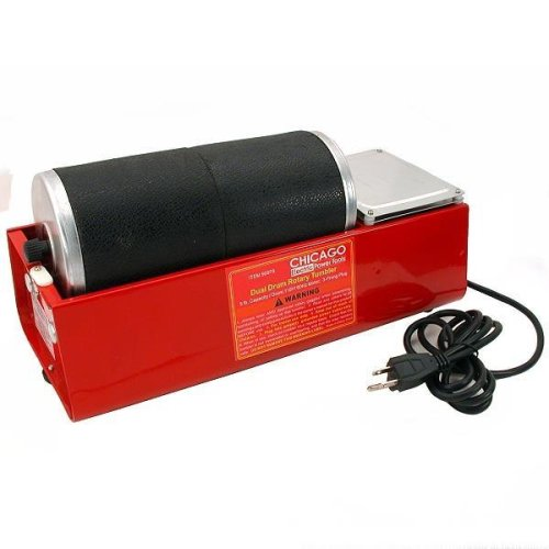 6 Lb Rotary Dual Drum Rock Tumbler Lapidary Polisher