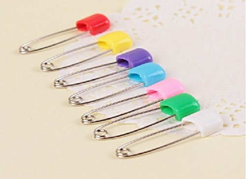 Set of 6 Colorful and Attractive Safety Pins for Fastening your Baby's Clothes