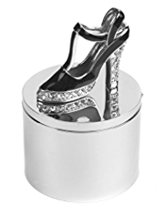 M&S Collection Diamanté Encrusted Shoe Trinket Box