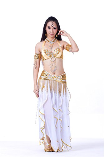 Dreaamspell 2014 Belly Dance Suit Professional Dancing Costumes Golden 6pcs