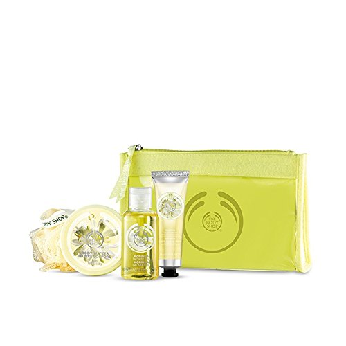 The Body Shop Olio di Argan Fragola/Mango/Wild/Cocco/Shea/Moringa _ Beauty Bag _ doccia Scrub e umidità Set Regalo per Compleanno, Natale, Pasqua, anniversario di matrimonio, damigella d' onore, Eid, grazie dando, Diwali, grazie, Rosh Hashana