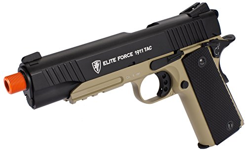 Evike Elite Force Full Metal 1911 Tactical CO2 Airsoft Gas Blowback Pistol Umarex KWC - (40446) (Full Metal Blowback Green Gas compare prices)