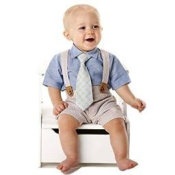 Mud Pie Baby Boy 3-Piece Seersucker Set (9-12 months)