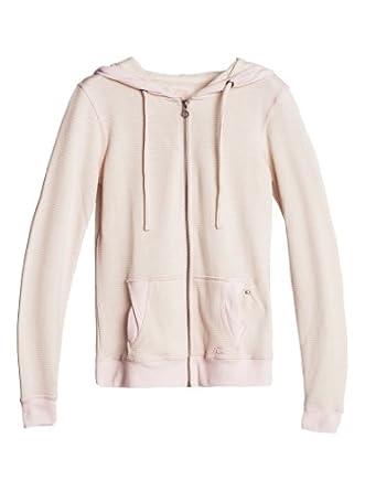 Quiksilver Women's Fleece Signature Hoodie Stripe  Pink (Opal Pink) Size S