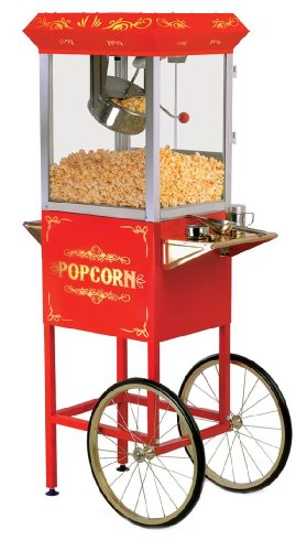Maxi-Matic EPM-200 8-Ounce Popcorn Popper Machine with Trolley