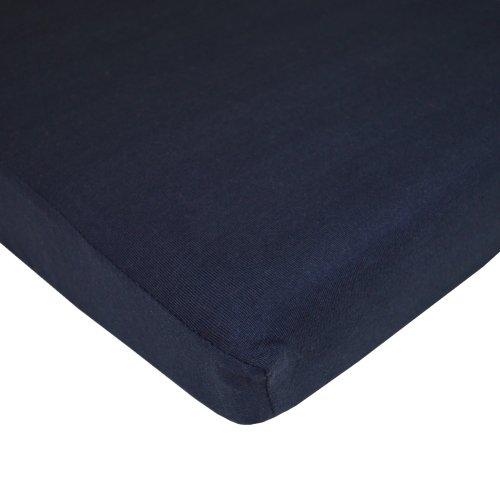 American Baby Company Jersey Knit Porta-Crib Sheet, Navy