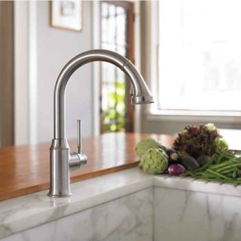 Incroyable Hansgrohe 04492800 Talis C HighArc Kitchen Faucet Steel Optik