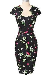 PAUL JONES Womens Cap Sleeve Cocktail Vintage Dress 9 Patterns