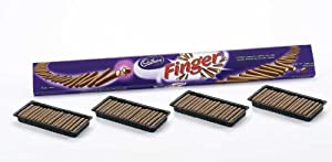 Cadbury BIG Finger Milk Chocolate Covered Cookies, 17.6 Ounce Packages (Pack of 2)