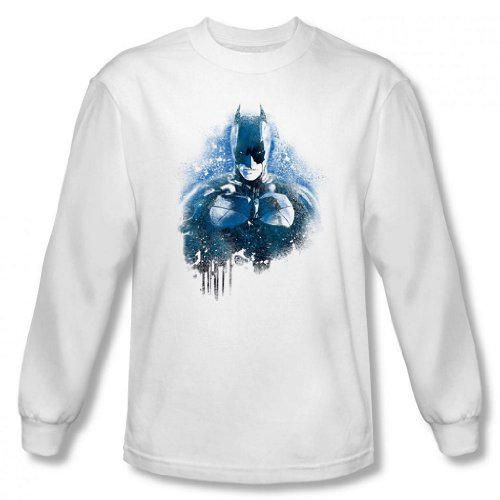 Dark Knight Rises - Spray Paint Batman Men's Long Sleeve T-Shirt