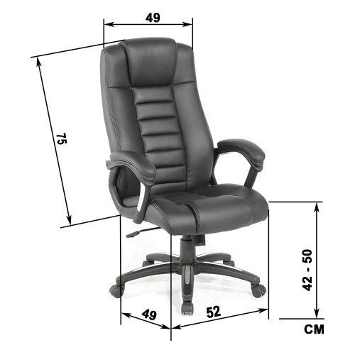 Sedie da ufficio il meglio per una postura corretta for Sedia misure