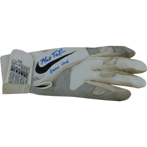 Mark Teixeira White Batting Gloves Signed With Game Used Insc. (Pair) front-687011