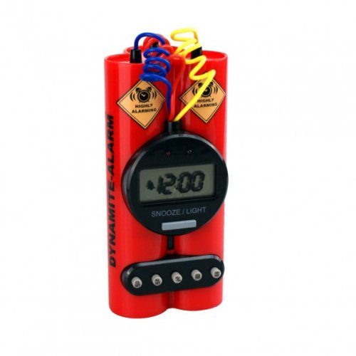 Relaxdays Red Dynamite Clock With Alarm And Vibration