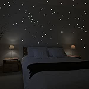 """Adhésifs muraux Wandkings """"250 pièces Points lumineux pour réaliser un ciel étoilé"""" Fluorescents & phosphorescents dans l'obscurité"""