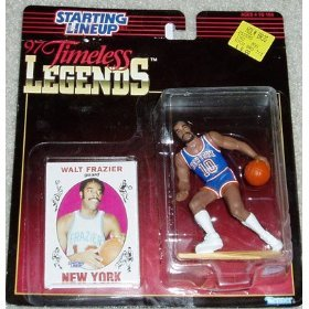 1997 - Kenner - Starting Lineup - 97 Timeless Legends - Walt Frazier - G - New York Knicks - NBA - Action Figure - Trading Card - Limited Edition - Collectible