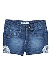 Chalk by Pantaloons Girl's Cotton Shorts (205000005607490, Blue, 5-6 Years)